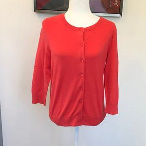 Talbots Cotton Cardigan Sweater Size Medium